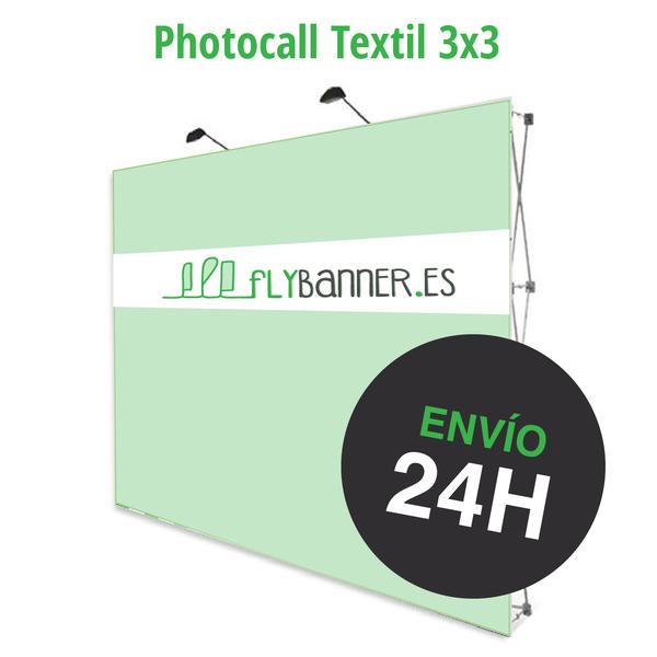 photocall textil 3x3 24h urgente