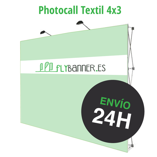 photocall textil 4x3 24h urgente
