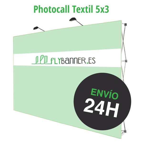 photocall textil 5x3 24h urgente